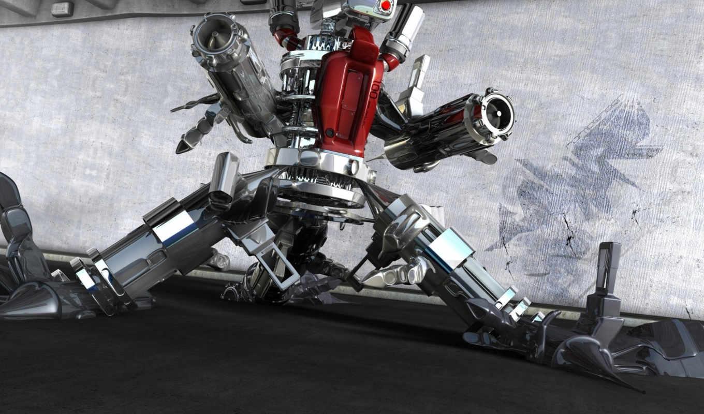 робот, оружие, смотрите, графикой, трехмерной, фона, bidibidi, другие, еще, нравится,