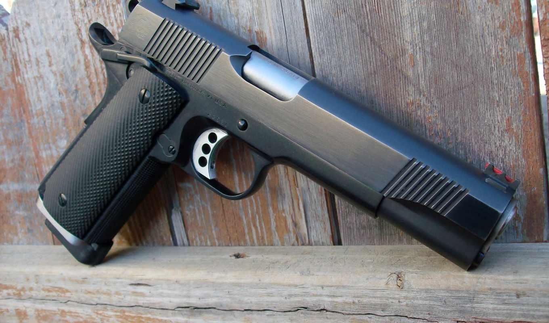 ,кольт, кастом, пистолет, caspian, ltd, arms, воронённый, black,