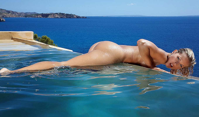море, девушки, взгляд, вода, красивая, девушка, блондинка, тело, небо, лицо,