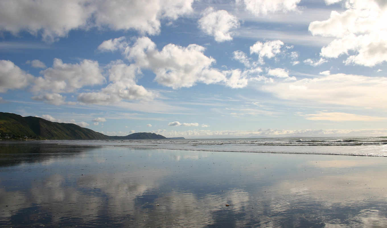 небо, море, озеро, пляж, surf,