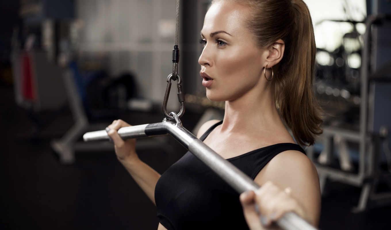 , зал, тренировка, девушка, тренажерном, тренировок, process,