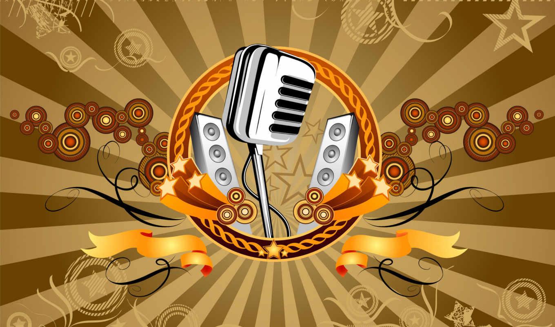 , retro, mastana, high, mikrofon, desktop,
