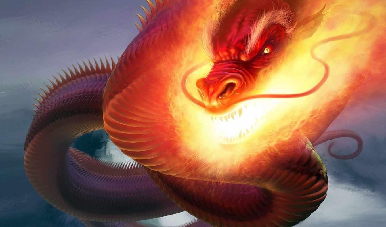 dragon, fire, argyle, steve, змей, fiery, часть,