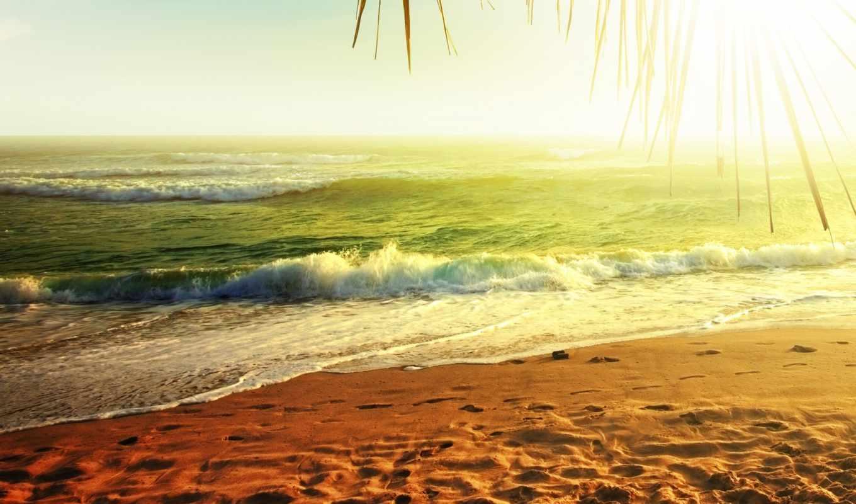 природа, море, вода, песок, океан,