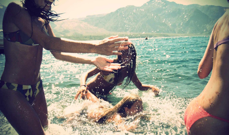 fun, summer, брызги, улыбки, море,