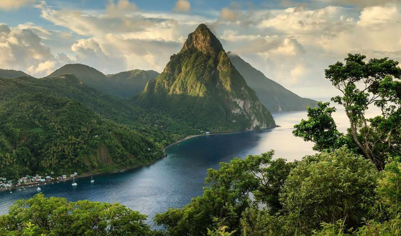природа, jungle, горы, красиво, ocean, лес, зилив, леса, разделе, корабли,