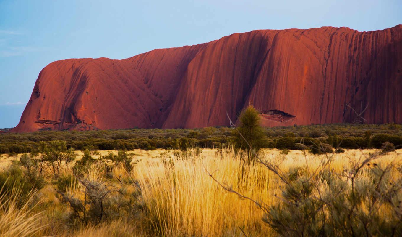 природа, пустыня, австралия, айерс, rock, улуру,