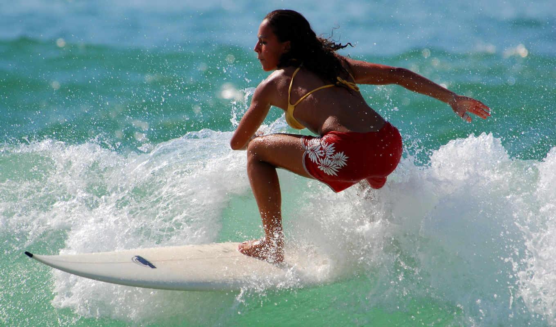 bali, сёрфинг, остров, серфингистка, девушка, индонезийский, серферов,