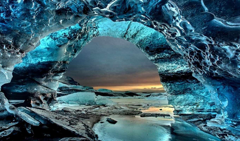 пещера, скафтафетль, iceland, ледяная, исландии, пещеры, ледника, park, national,