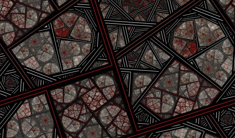 орнамент, красивый, полу, графика,