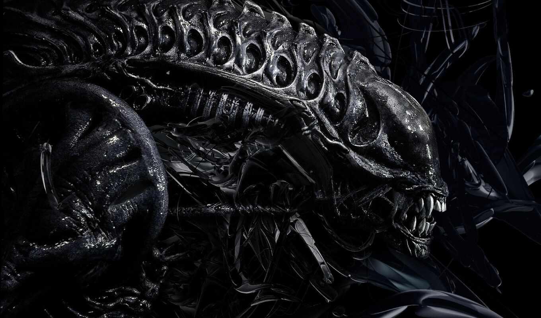 alien, ксеноморф, чужое, xenomorph, dark, они, universe