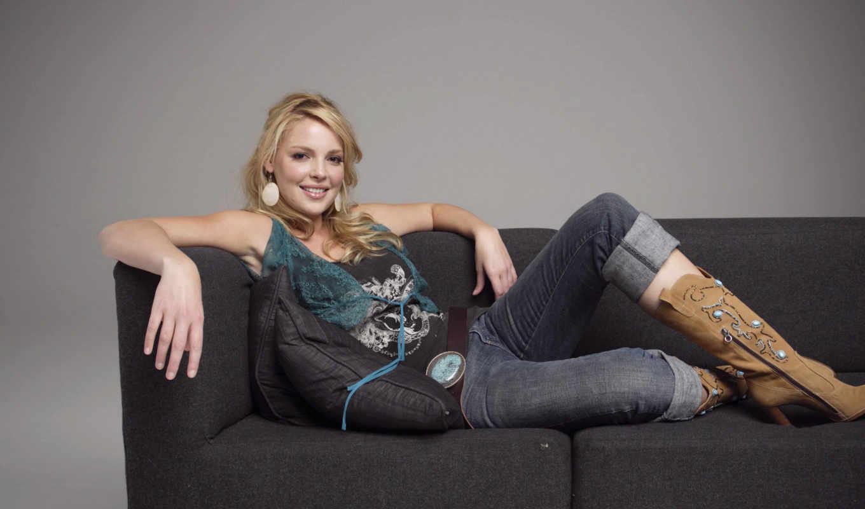 katherine, heigl, кэтрин, улыбка, диване, www,