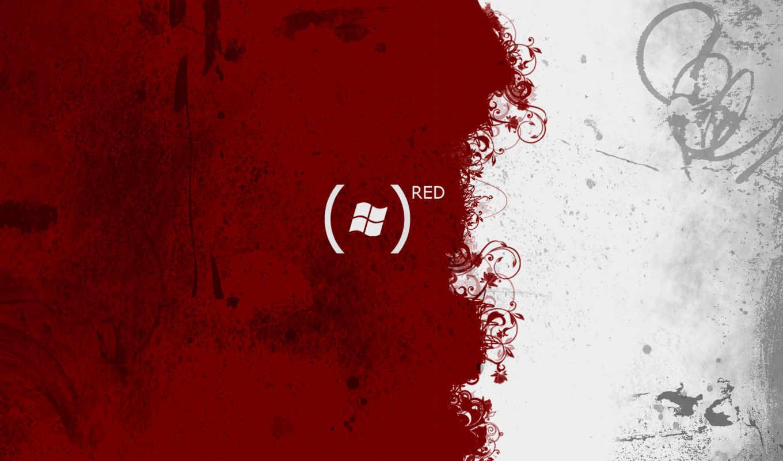 red, windows, blanc, rouge, dell, abstrait, desktop,
