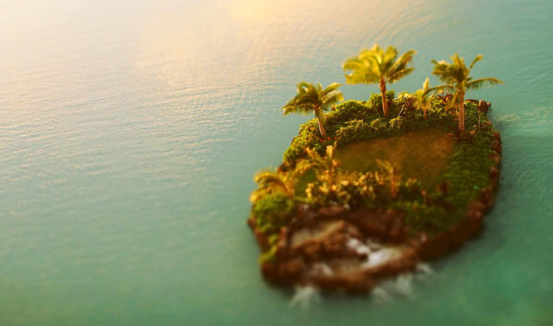 tilt, shift, море, острова, landscape, раздолье,