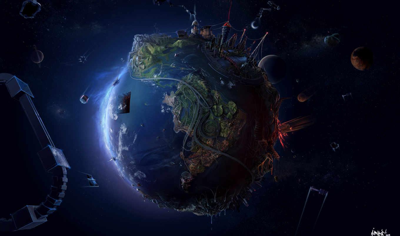 земля, обои, планета, космос, категория, совершенн