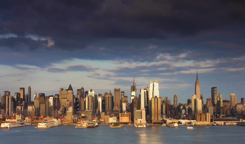небоскребы, new, york, нью, nyc,