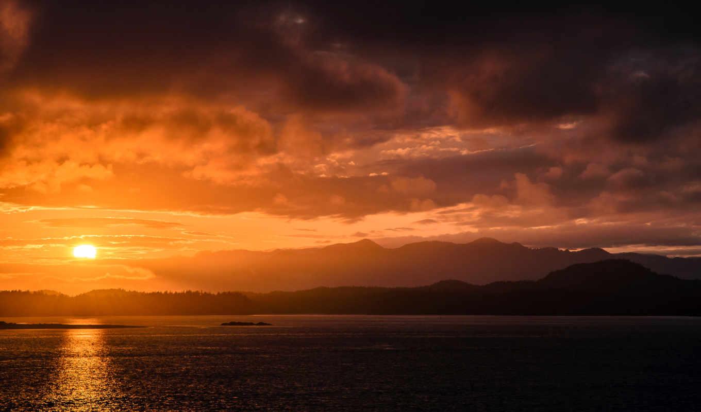 закат, природа, пейзажи -, water, море, sun, берег, небо, oblaka, тучи, landscape,