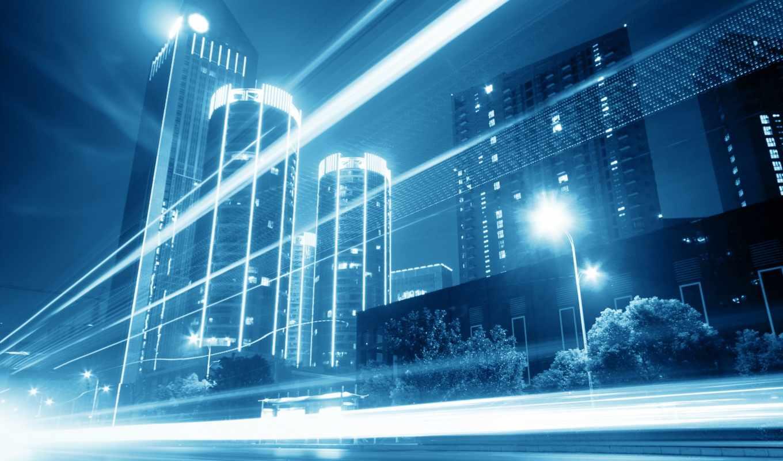 ночной, город, night, city, современный, мост, str