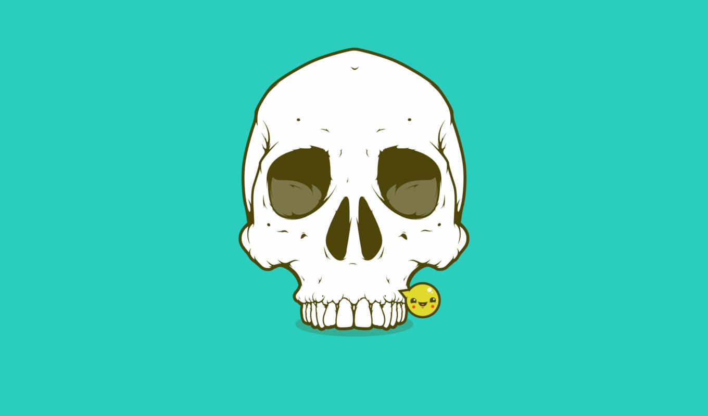 улыбка, смайлик, череп, картинка, картинку,