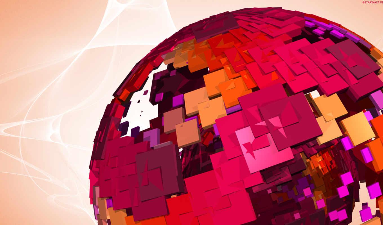 шар, abstract, розовый, facebook, free, desktop, covers,