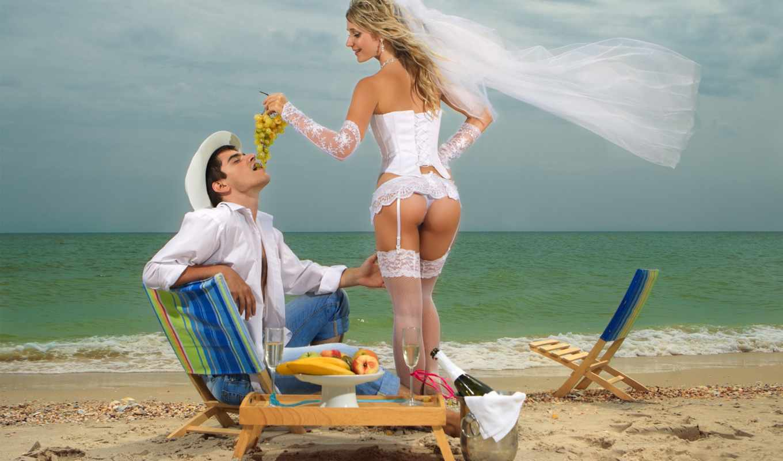 море, девушка, пляж, парень, fata, мужчина, виноград, фрукиы, невеста,