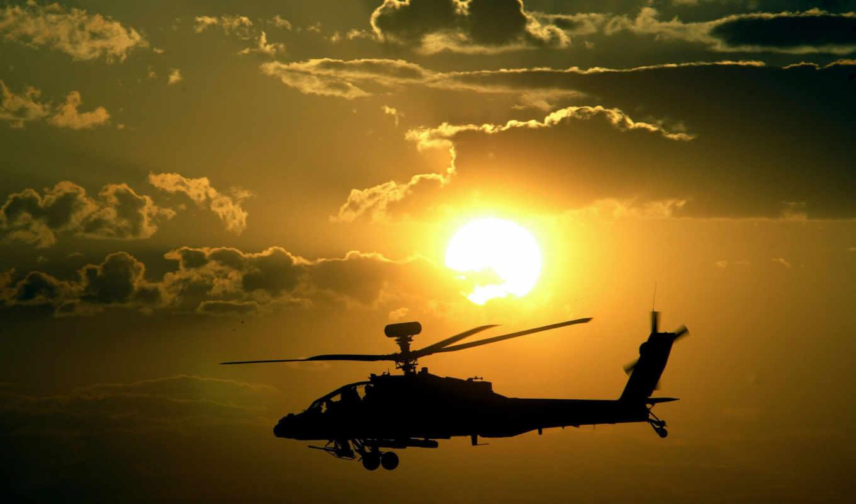 apache, закат, military, helicopter, ah, солнце, небо, вооружение, полет, апачи, замечательную, photography, you, part, военные, вертолеты, фотографию, photo,