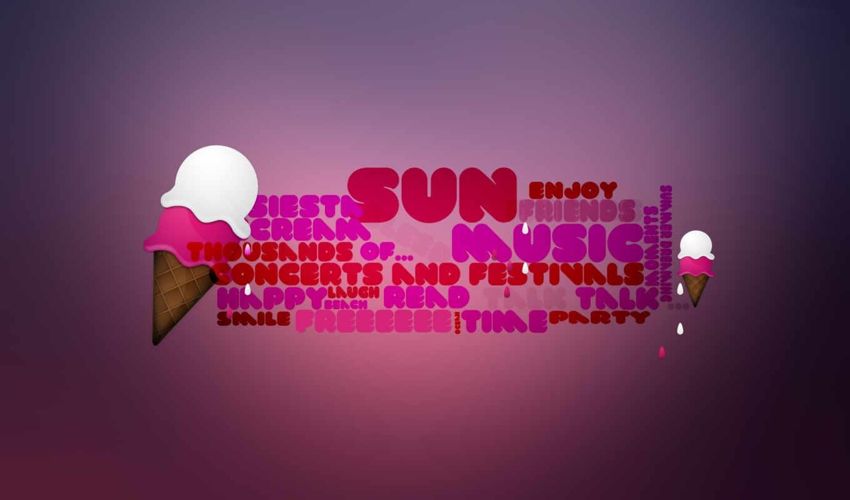 мороженое, розовый, надпись,