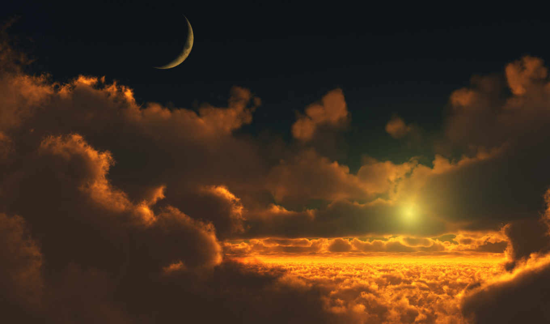 природа, нояб, высокого, со, month, октябрь, декабрь, дек, красивые, облаками, закат,