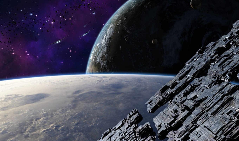 космос, корабль, корабли, станция, планеты, арт,