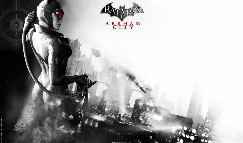 catwoman, arkham, city, batman,