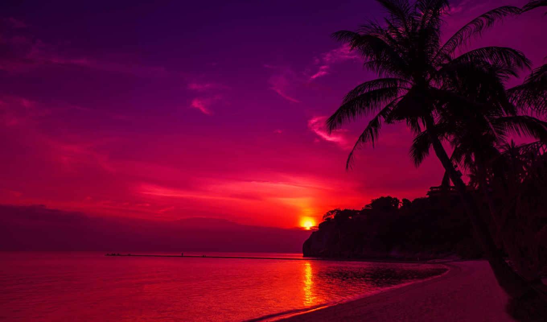 закат, пляж, high, таиланд,