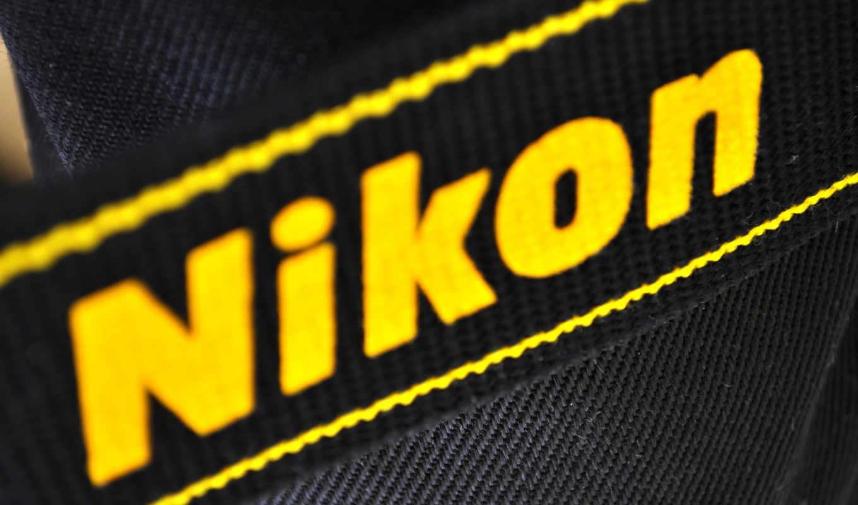 black, logo, nikon, yellow, изображение,