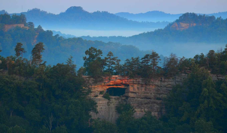 природа, горы, долина, landscape, скалах, лес,