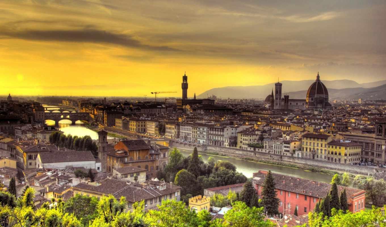 florence, firenze, italy, italian, закат, tuscany,