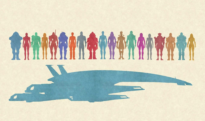 effect, mass, normandy, characters, starship, персонажи, art, legion, samara, illusive, man,