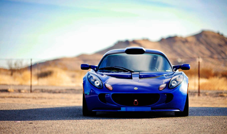 lotus, exige, blue, спорткар,