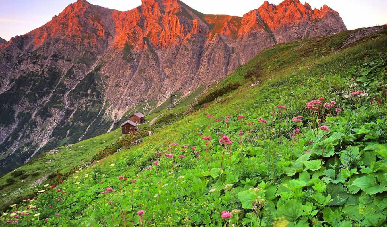 brandnertal, sie, австрия, горы, mountains, нов, landscape,