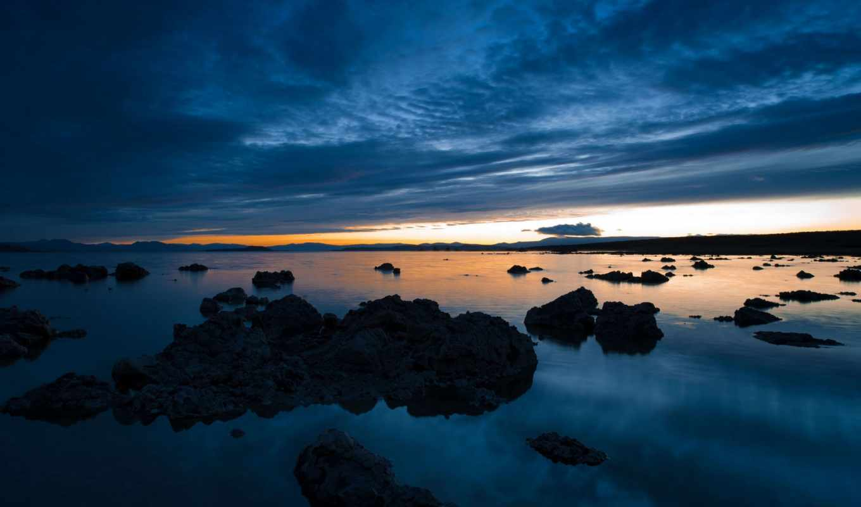 вечер, побережье, дек, озеро, oblaka, закат, landscape, free, скинали, cuadros,