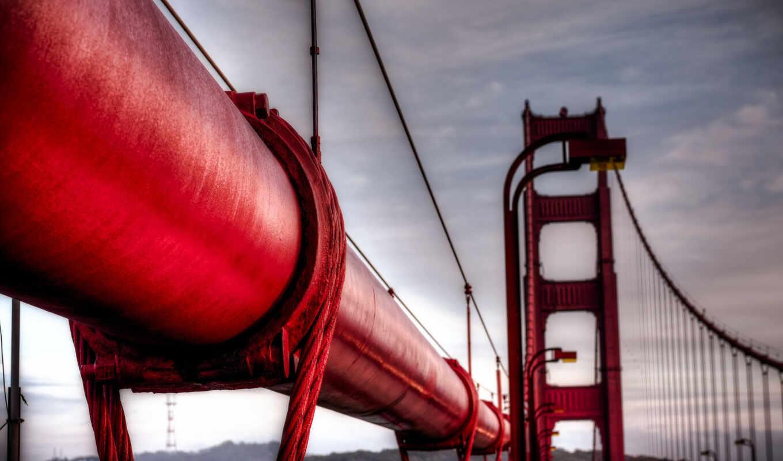 мост, город, red, puente, gate, pantalla, pont, cerca, alam