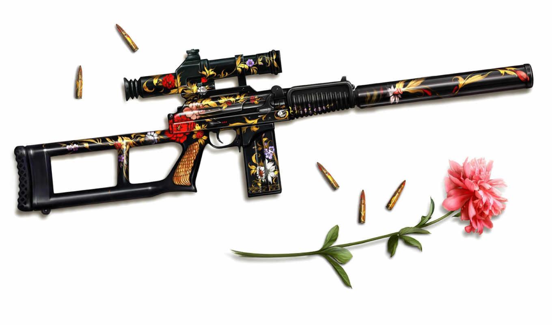 оружие, снайпер, всс, art, патроны, цвеьлк