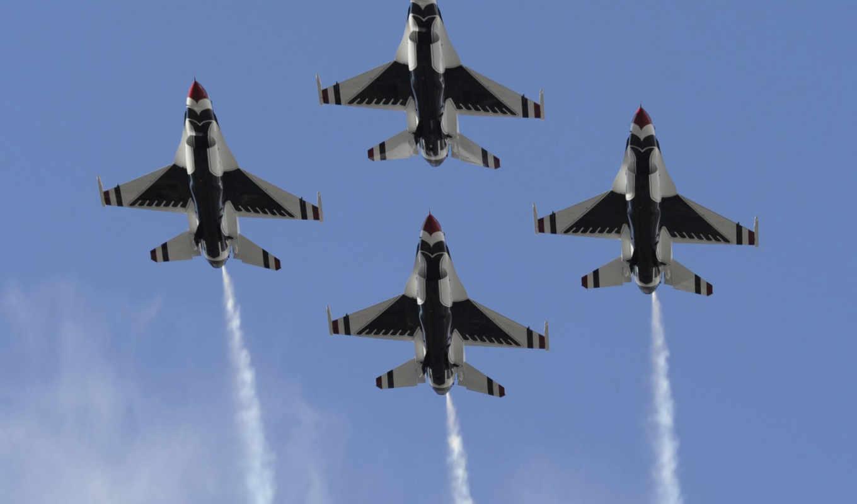 истребитель, небо, авиация, самолет, polet, kartinka, falcon, thunderbirds,