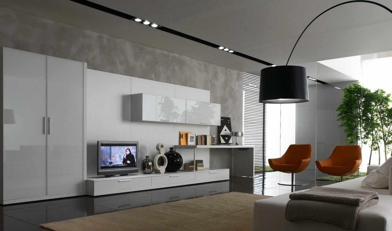гостиная, стена, идея, стиль, мебель, интерьер