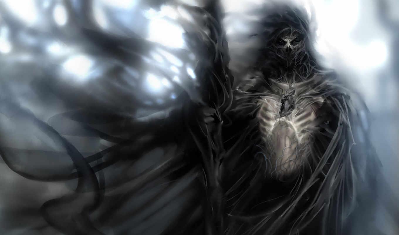 fantasy, остов, маг, магия, посох, воин, дракон, soul, меч, девушка, monster,