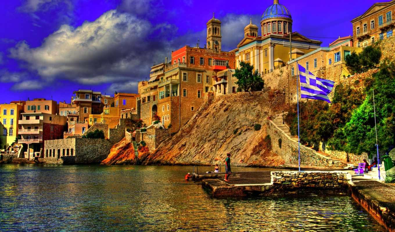 greece, море, взгляд,