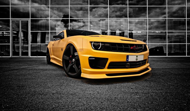 chevrolet, camaro, yellow, машина, камаро, рапунцель,