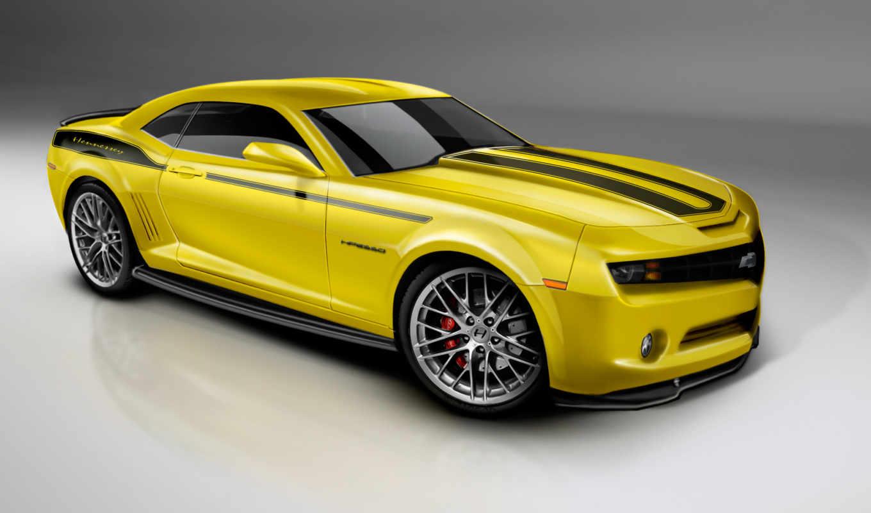 camaro, chevrolet, yellow, автомобили, широкоформатные, авто,