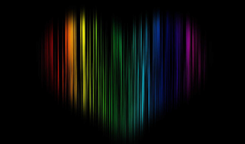 радуга, black, сердце, черви, more, love, фон, rainbows,
