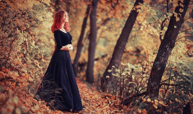 природа, девушка, red, осень, листва, поза, сергей, модель, лицо, park, май