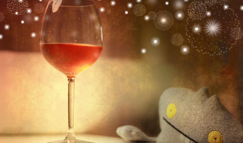 праздник, rose, glass, wine, розового, шампанского, january, calendar, inapoi, lịch, year,