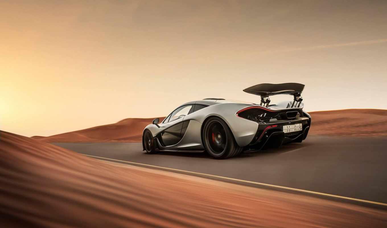 mclaren, суперкар, взгляд, пустыня, скорость,